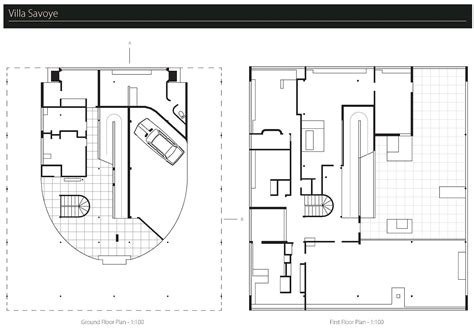 villa savoye floor plan dwg villa savoye floor plan dwg 100 dining room side chairs