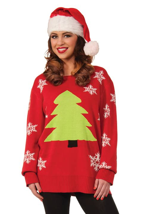 oh christmas tree sweater adult costume large