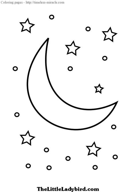 preschool coloring pages moon moon and stars coloring pages timeless miracle com