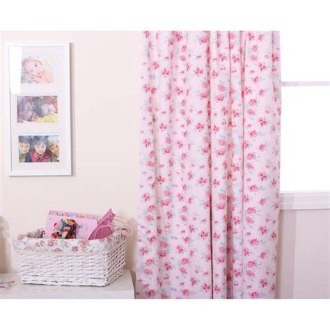 girls floral curtains babyface rosie pink floral 100 cotton girls curtains