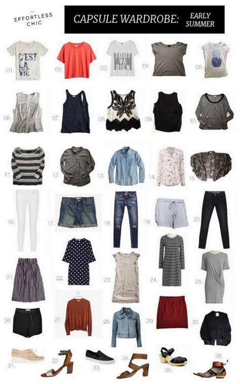 summer capsule wardrobe up the effortless chic