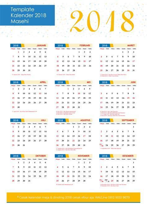 kalender 2018 beserta hari libur 28 images template