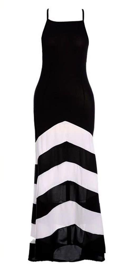 and shoulders color safe black white striped color block cross back shoulder