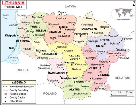 map of lithuania maps of lithuania bizbilla