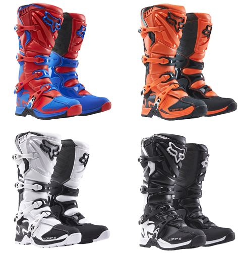 kids motocross boots fox racing youth all colors comp 5 dirt bike boots mx atv