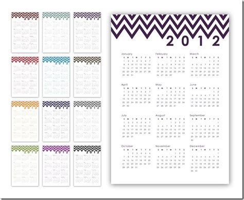 Inexpensive Calendar Printing Sprik Space 2012 Year At A Glance