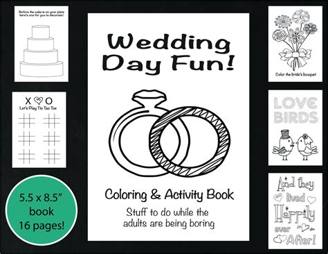 Wedding Coloring and Activity Book Reception Game Kid's