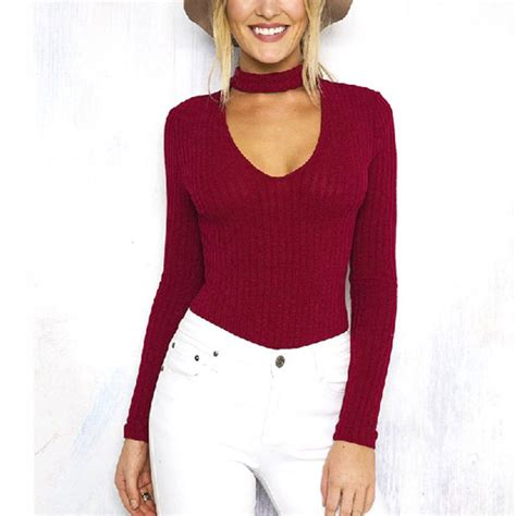 Blouse Top Vneck Shelye womens sleeve shirt casual choker halter v neck tops blouse top ebay