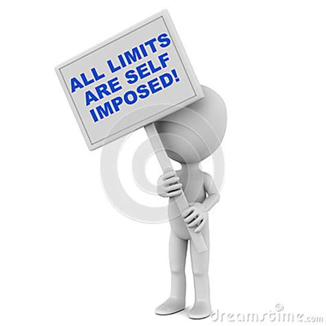 Imposed Limits by All Limits Are Self Imposed Royalty Free Stock Image