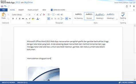 Microsoft Word Web Microsoft Office 2013 Web Apps Telah Tersedia Di