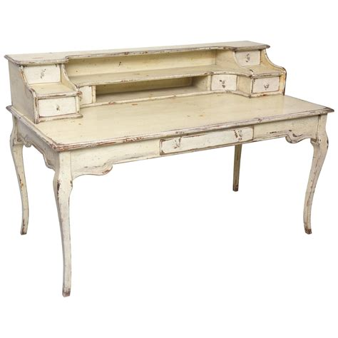 Large Painted Country French Desk At 1stdibs Country Desk
