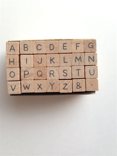 rubber letter st set alphabet rubber st set uppercase letter st wood