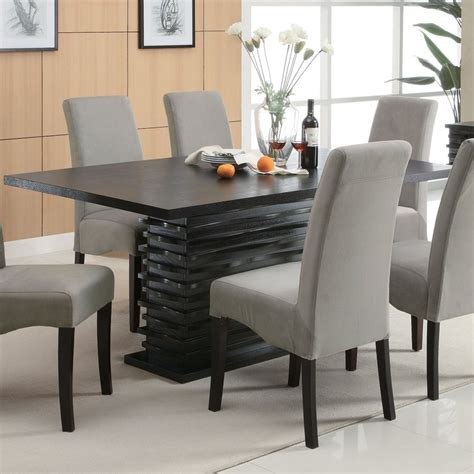 fine dining room tables shop coaster fine furniture stanton wood dining table at