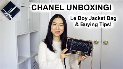 chanel le boy jacket bag 16k unboxing buying tips