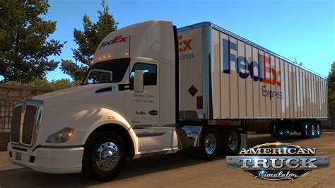 fedex ats mods american truck simulator mods ats trucks maps