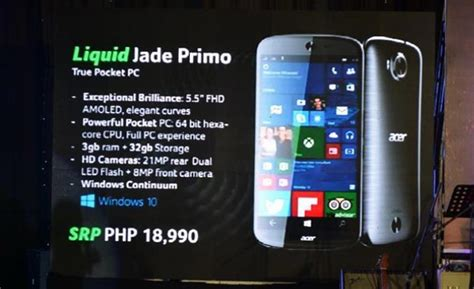 Harga Acer Jade Primo acer jade primo telefon pc daripada acer berharga