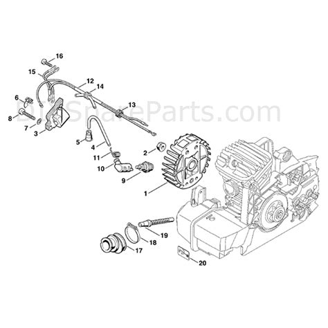 stihl 290 parts diagram stihl ms 290 chainsaw ms290 parts diagram ignition system