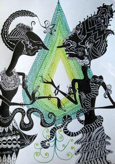 Batik Wayang Ukir Batik Wayang Pundak batik painting wayang painting suitable for your home decor w277 pls visit our