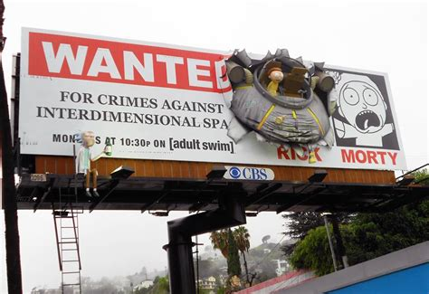 Billboard Meme - rick and morty promotional billboard in la rick and