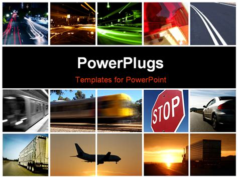 powerpoint templates transportation best powerpoint template transport collage background