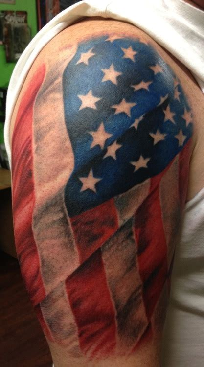 patriotic half sleeve tattoo designs flag images designs