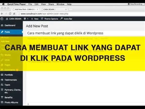 membuat youtube responsive di wordpress cara membuat link yang dapat diklik di wordpress youtube