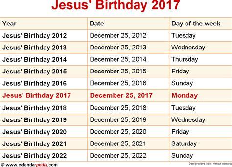 Calendar 2018 Jesus When Is Jesus Birthday 2017 2018 Dates Of Jesus Birthday