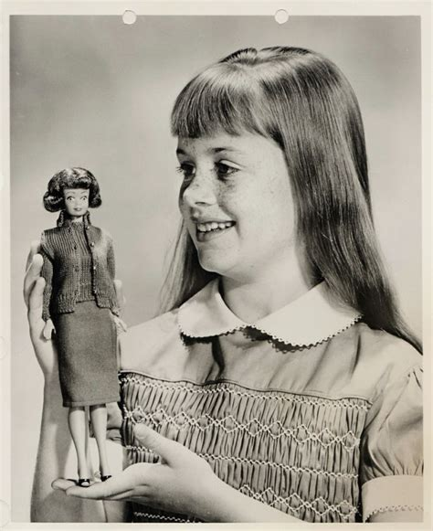 freckle face girl shut the front door promotional photograph of the very earliest midge doll