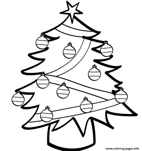 basic christmas tree coloring page simple christmas tree s84ad coloring pages printable