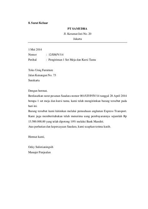 Contoh Surat Masuk Penawaran Barang by Contoh Surat Masuk Dan Surat Keluar
