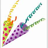 Confetti streamers party blowers clipart - dbclipart.com