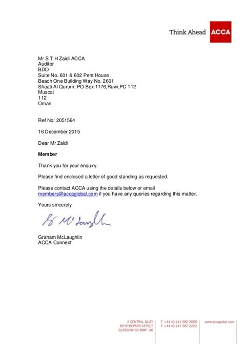 Letter Of Standing From A Bank lovely letter of standing how to format a cover letter