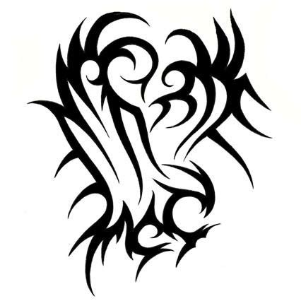 tribal eagle head tattoo tribal eagle clipart best