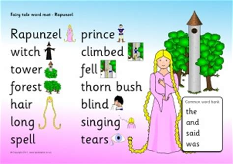 Tale Word Mat by Rapunzel Teaching Resources Story Sack Printables