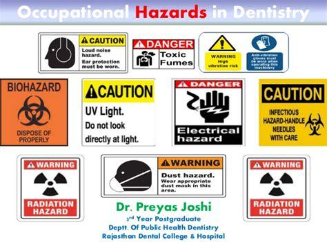 Occupational Hazard by Occupational Hazards In Dentistry