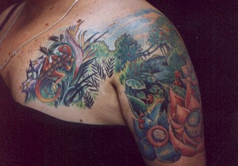 tattoo ideas jungle jungle scene tattoo picture