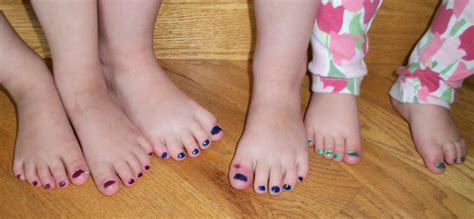 teen girl painted toenails fifty tiny toes picture of the day thirty tiny pedicured