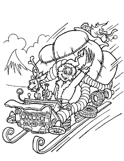 grinch coloring pages the grinch steals gifts coloring pages
