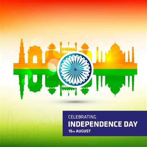 indian independence day india independence day in colors background vector free