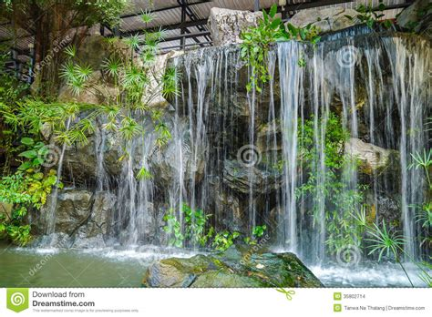 waterfalls decoration home waterfall stock images image 35802714