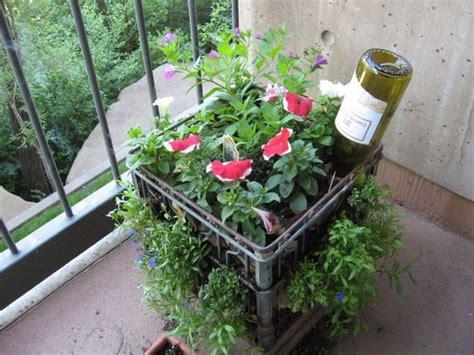 balcony container gardening my milkcrate balcony container garden gardens empty