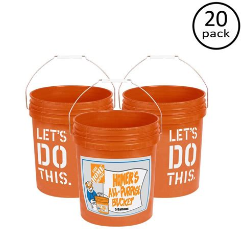 the home depot 5 gal homer 20 pack 05glhd2 the