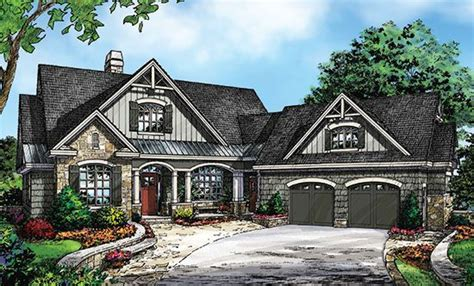plan of the week angled garages small cottages bonus rooms and house plans craftsman and bonus rooms on pinterest