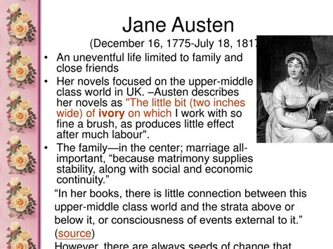 biography jane austen ppt ppt pride and prejudice powerpoint presentation id 356814