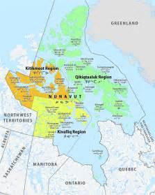 nunavut map canada list of regions of nunavut
