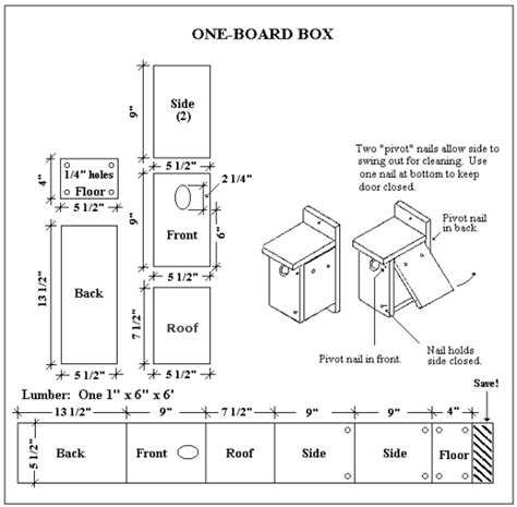 woodwork birdhouse plans one board pdf plans