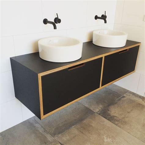 black laminate vanity  birch plywood custom   nz