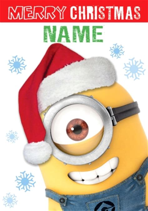minions christmas card despicable  funky pigeon
