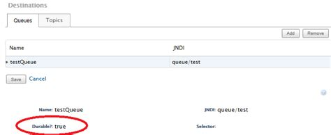 email queued meaning java what is the meaning of durable attribute for jms