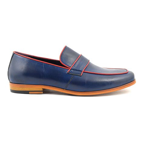 buy loafers uk buy classic navy loafer mens leather shoes at gucinari